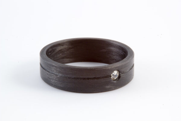 Carbon fiber ring with Swarovski (00109_5S1)