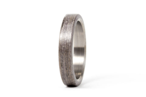 Titanium and bentwood ring (00500_4N)