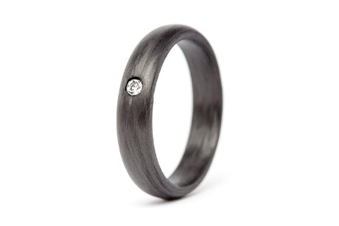Carbon fiber ring with Swarovski (00100_4S1)