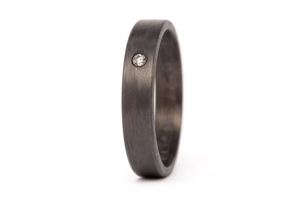 Carbon fiber ring with Swarovski (00101_4S1)
