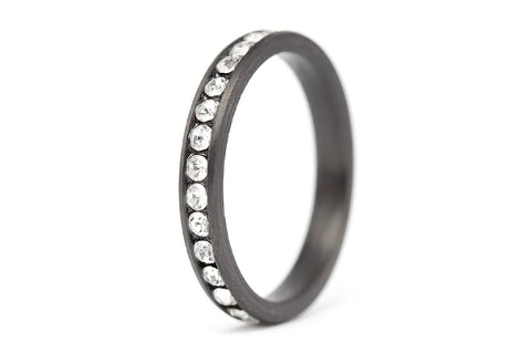 Carbon fiber ring with Swarovskis (00117_3S1)