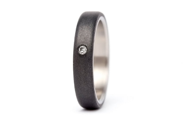 Titanium and graphite ring with Swarovski (01300_4S1)