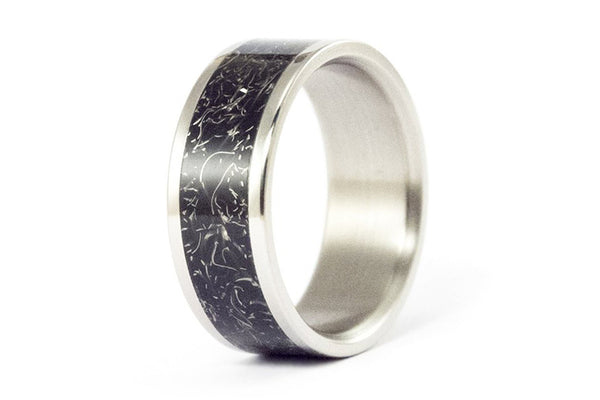 Black titanium ring (00024_8N)