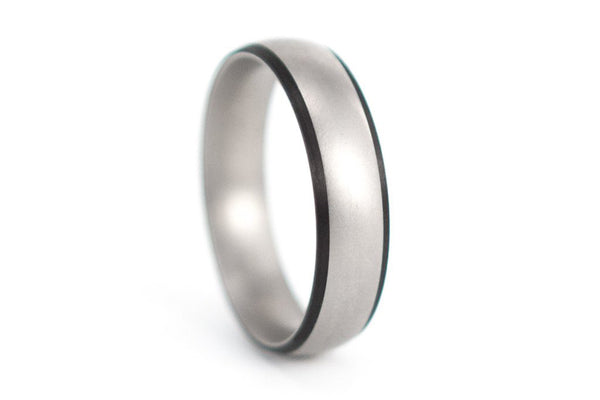 Titanium and carbon fiber ring (00302_7N)