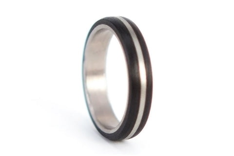 Titanium and carbon fiber ring (00304_4N)