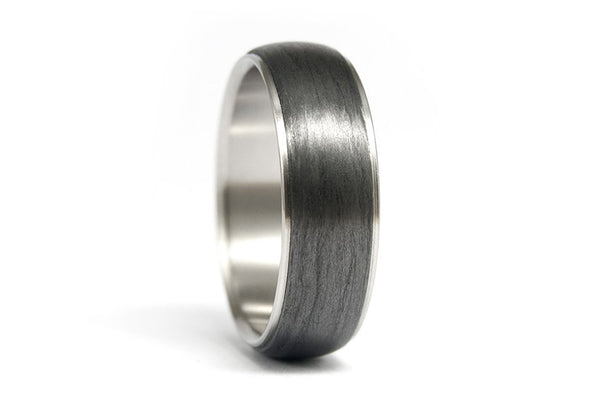 Titanium and carbon fiber ring (00305_7N)
