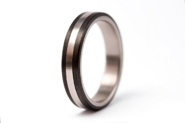 Titanium and carbon fiber ring (00307_4N)