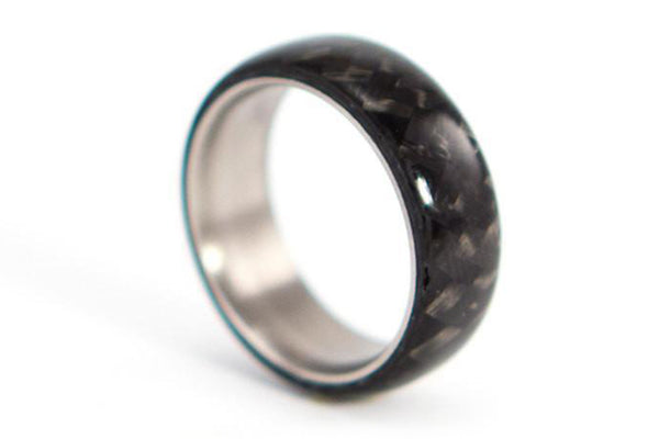 Titanium and carbon fiber ring (00311_7N)