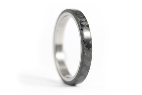Titanium and carbon fiber ring (00312_3N)