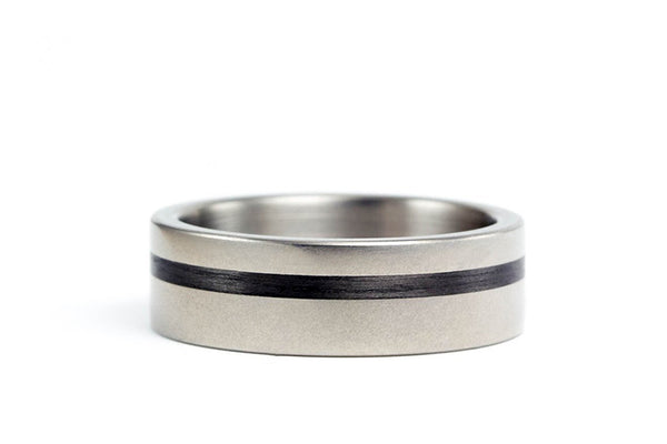 Titanium and carbon fiber ring (00313_7N)