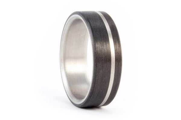 Titanium and carbon fiber ring (00318_7N)