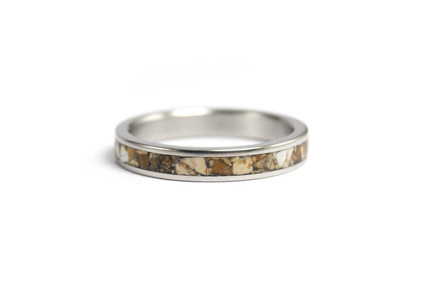 Titanium and jasper ring (03223_3N)