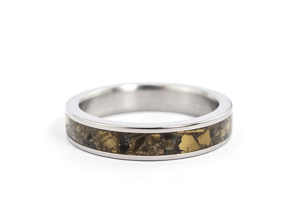 Titanium and tiger's eye ring (03226_4N)