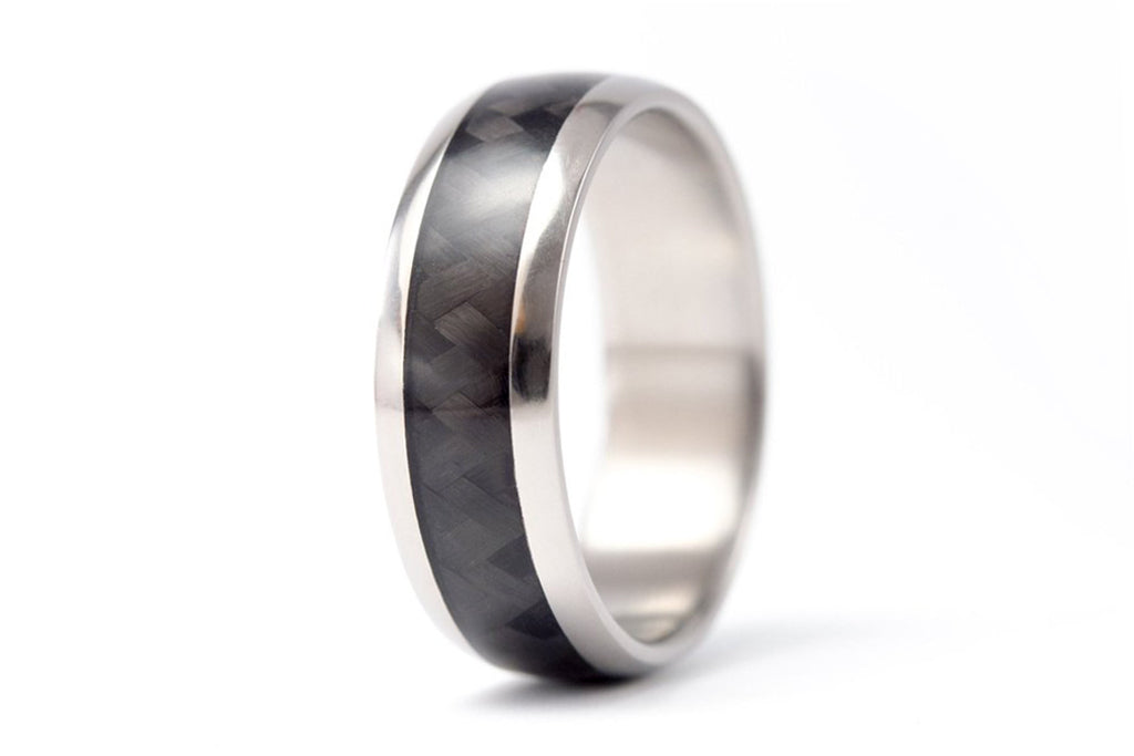 Titanium and carbon fiber ring (00331_7N)