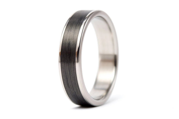 Titanium and carbon fiber wedding bands (00333_4N7N)