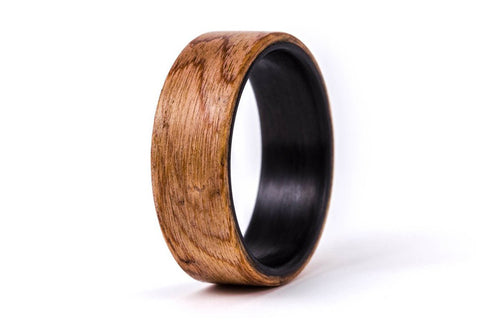 Carbon fiber and walnut bentwood ring (00400_7N)