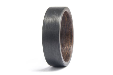 Carbon fiber and wenge bentwood ring (00407_7N)