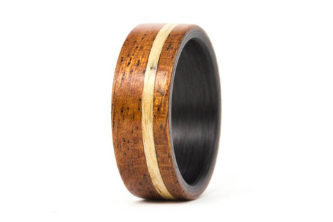 Carbon fiber and bentwood ring (00417_8N)