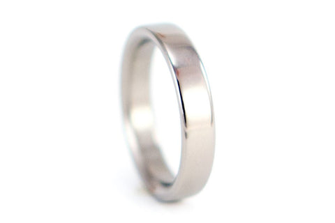 Polished titanium ring (00004_4N)