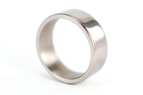 Polished titanium ring (00004_7N)