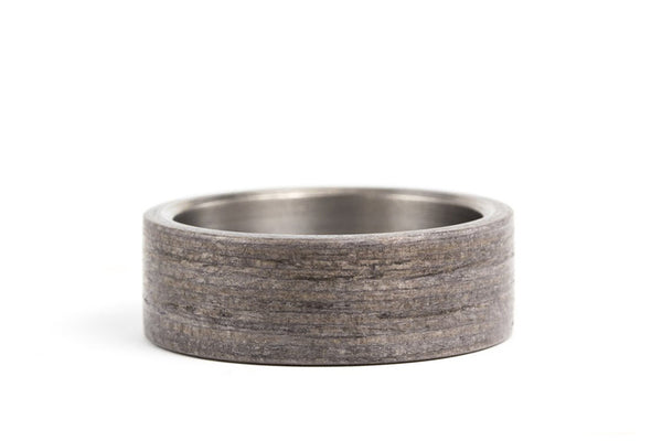 Titanium and bentwood ring (00500_7N)