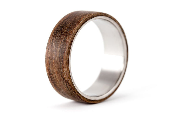 Titanium and cocobolo bentwood ring (00515_7N)