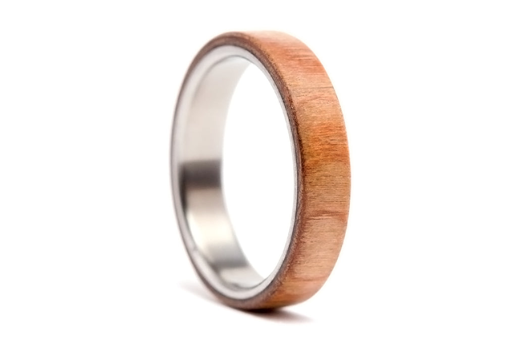 Titanium and walnut bentwood ring (00518_4N)
