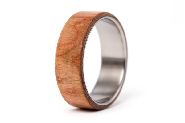 Titanium and walnut bentwood ring (00518_7N)