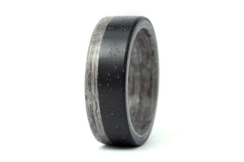 Concrete and bentwood ring (00903_6N)