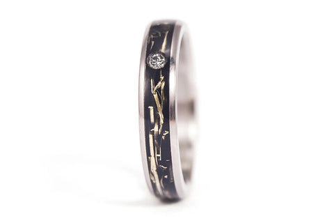 Titanium and brass ring with Swarovski (05000_4S1)