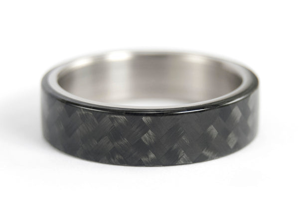 Titanium and carbon fiber ring (00312_6N)