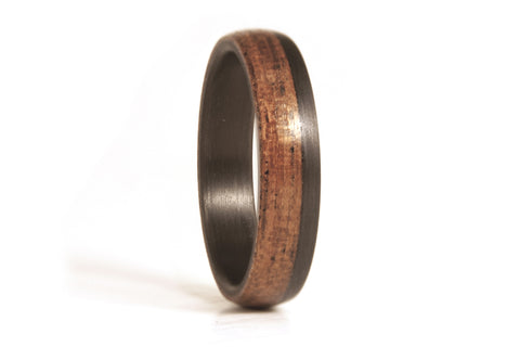 Carbon fiber and wenge bentwood ring (00420_6N)