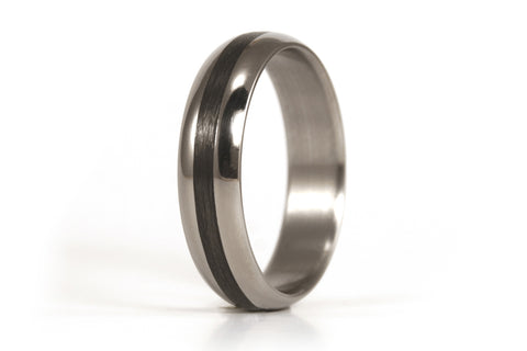 Titanium and carbon fiber ring (00345_4N)