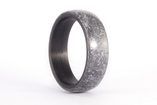 Silvered resin and carbon fiber ring (01304_7N)
