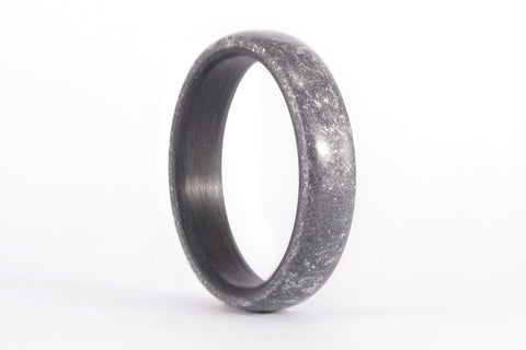 Titanium and silver resin ring. (01304_4N)