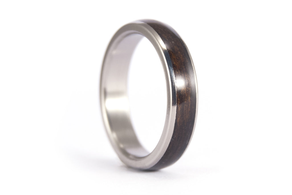 Titanium and bentwood ring (00528_4N)