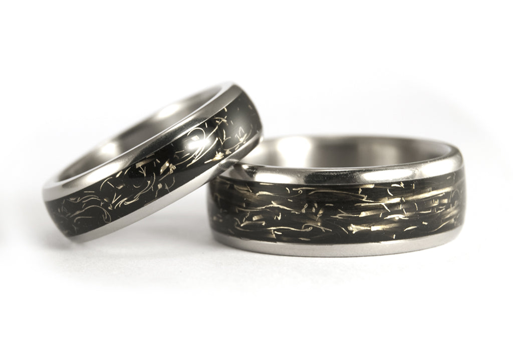 Titanium and brass ring wedding bands  (05000_6N7N)