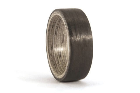 Carbon fiber and bentwood ring  (00401_7N)