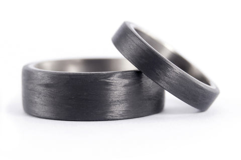 Titanium and carbon fiber wedding bands (00310_4N8N)