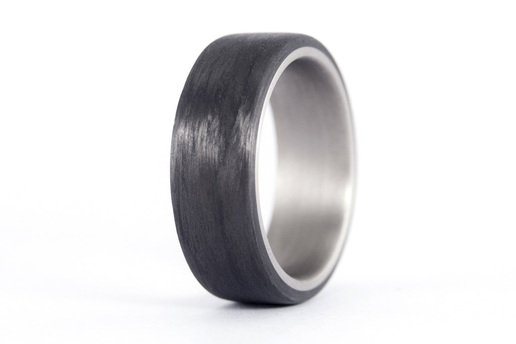 Titanium and carbon fiber ring (00310_8N)