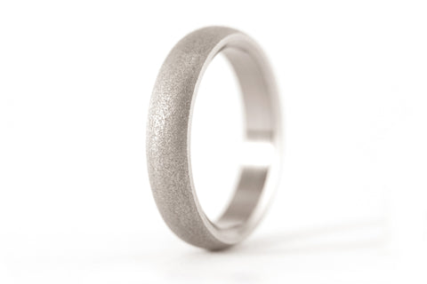 Sandblasted titanium ring (00011_4N)