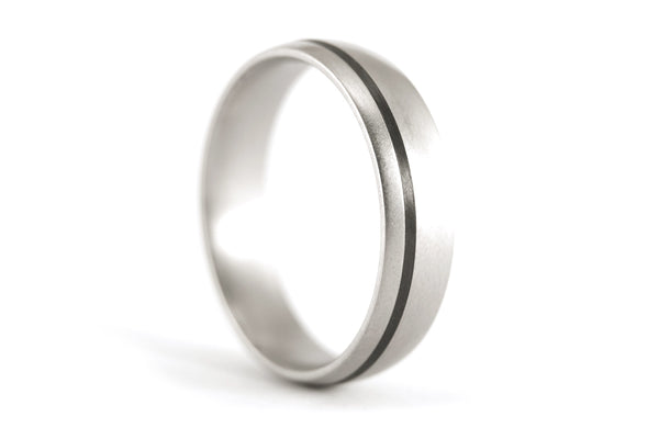 Titanium and carbon fiber ring (00301_7N)