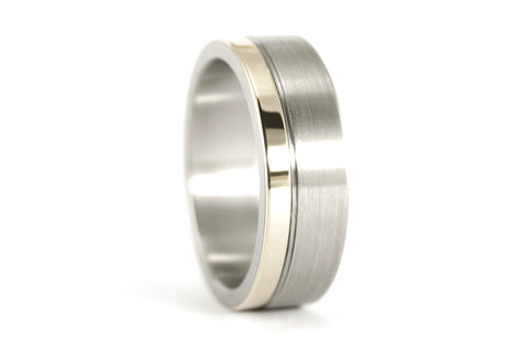 18ct white gold and titanium ring (00557_7N)