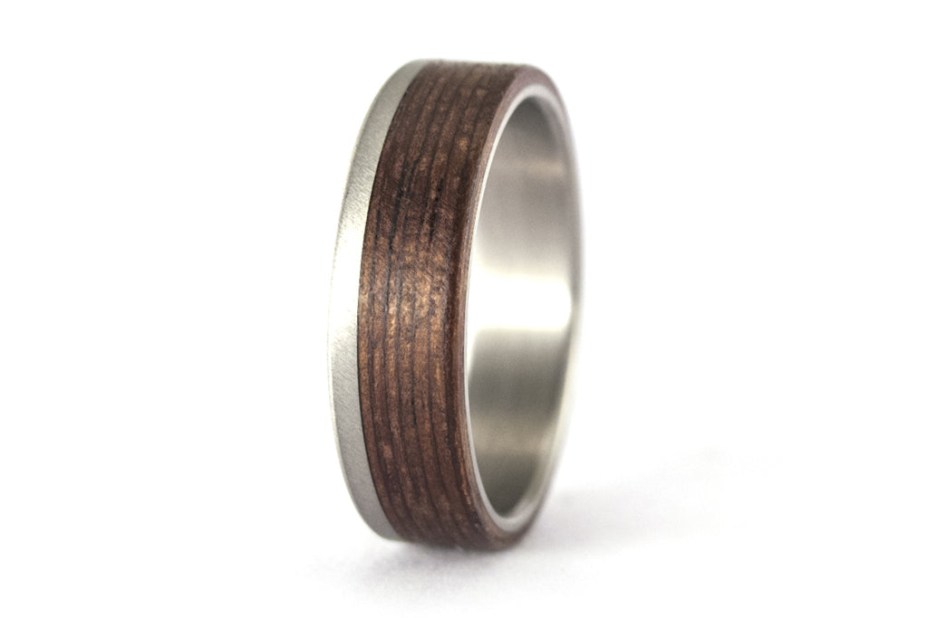 Titanium and bentwood ring (00501_5N)