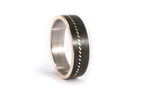Carbon fiber and 18ct gold ring (44704_6N)