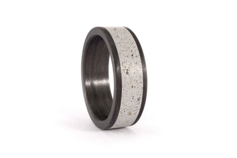 Concrete and carbon fiber ring (01000_7N)
