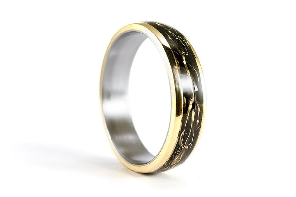18ct gold and titanium ring (04706_5N)