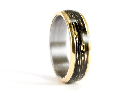 18ct gold and titanium ring (04706_6N)