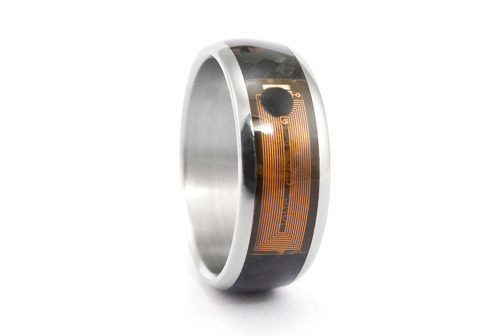 NFC Smart Ring with titanium and carbon fiber (04905_8N)