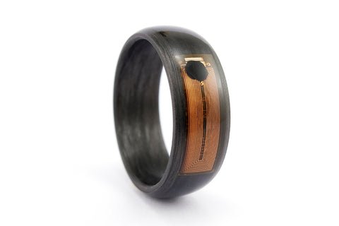 NFC Smart Ring with carbon fiber (04906_8N)